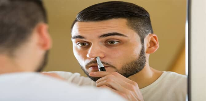 How To Use A Nose Hair Trimmer