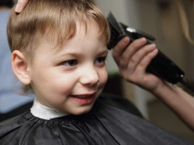 how to cut baby boy hair with clippers